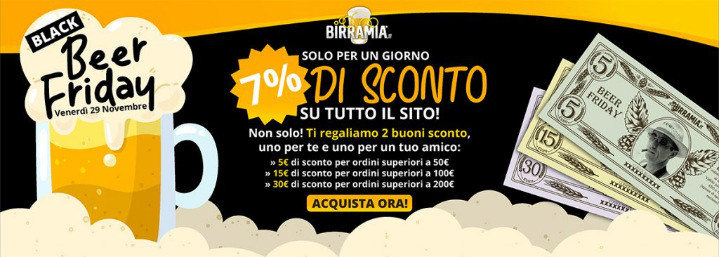 Black Beer Friday con sconti Birramia