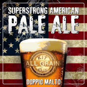 Kit Superstrong American Pale Ale (APA) all grain for 18 litres - Double Malt