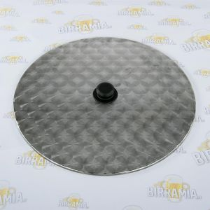 Stainless steel lid for 100 L-brew pot