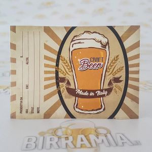"Birramia ""Vintage"" adhesive labels for beer bottles  - 100 pieces"