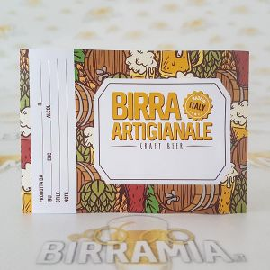 "Birramia ""Doodle"" adhesive labels for beer bottles  - 100 pieces"