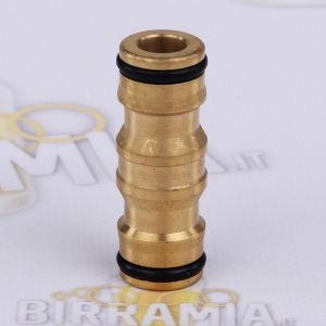 Brass quick two-way male coupling