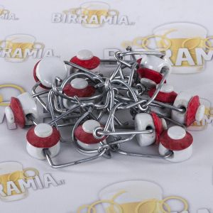 Porcelain mechanical stopper for bottles from 0,5 to 1,0 L (12 pieces)