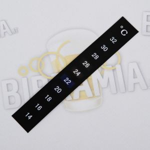Vertical adhesive thermometer 14-32°C